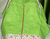 Green and Pink- Carseat Cover / Carseat Canopy Carseat Canopy / Carseat Tent - Zippered -