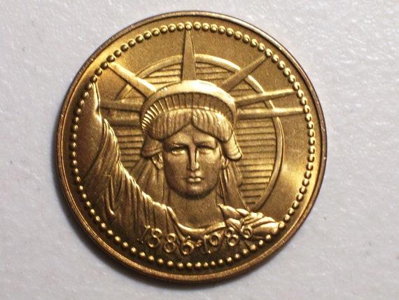 1986 Statue of Liberty Commemorative Nestle Company 100 Year Restoration 1886-1986 Medal, Medallion, Token