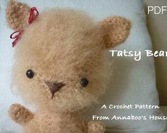 Crochet Teddy Bear Tatsy Bear PDF Pattern