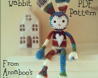 Wabbit: A Crochet Rabbit  PDF Pattern