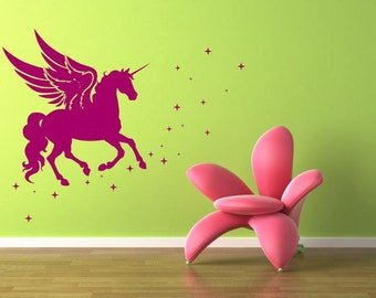 Adesivo per le pareti unicorno (3085n)