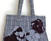 Gray Skies Vintage Wool Purse