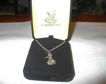 M.I. Hummel's Club Merry Wanderer Sterling Silver Necklace in Original Box