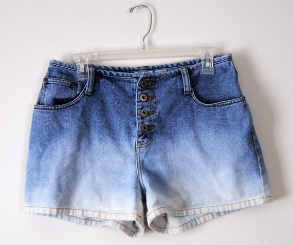 VTG DIY Denim Hombre Dip-Dyed Shorts/Hot Pants (10) Medium