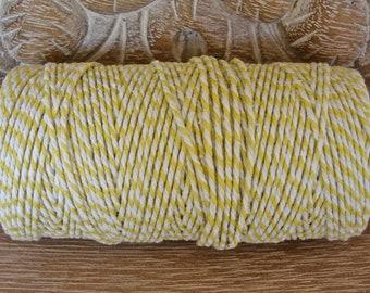 Baker's Twine - Yellow and White Twine - Full 100 Yard Spool