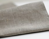 Natural linen fabric by the yard  - grey color eco friendly fabrics -  Lithuanian linen - 58 x 40 inch size