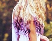 Temporary Hair Color - Dip Dye, PICK A COLOR - Hippie Hair - ShareeBoutique