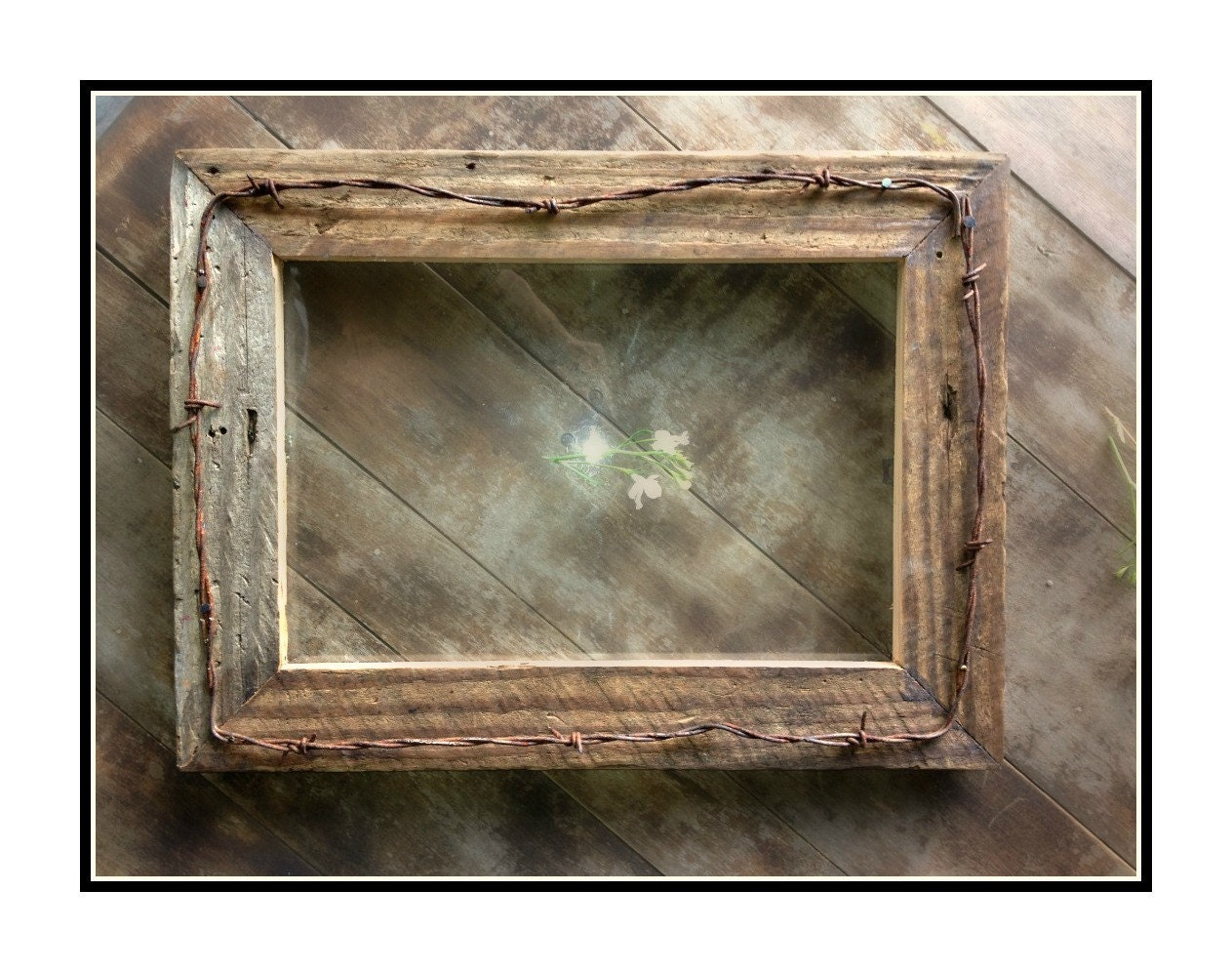 16x16 Rustic Barnwood Picture Frames made from Reclaimed ... |Rustic Wooden Picture Frame