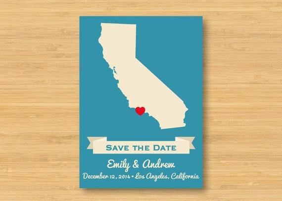 Map Save the Date - Vintage Style - Destination Wedding - Printable 5x7 DIY Digital