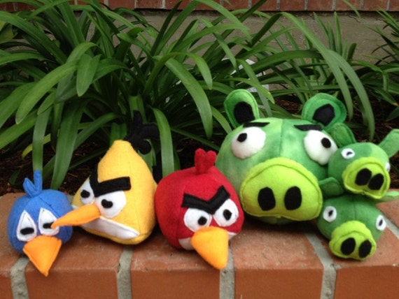 Angry Bird Plush Toss Toy for Adults - and Children - set of 6