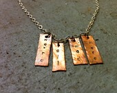 We're All Mad Here necklace in antiqued copper