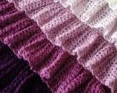 Ombre Ruffle Blanket Crochet Pattern