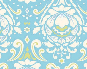Medallion Fabric in Aqua  - Taza collection by Deena Designs