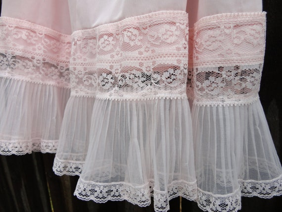 Soft Pink Sheer Lace Slip