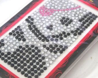 Deco Rhinestone sticker sparkling cell phone bling kawaii pirate skull