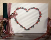 Wedding photo album with wooden heart. 120pages, 20x30 cm /approx. 8x12inches