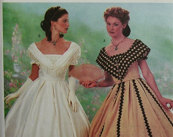 Southern Belle Costume Making History Butterick Pattern 6693  Uncut   Sizes 12-14-16  Bust 34-36-38""