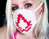 Assassian's Creed Pearl Kandi Rave Surgical Mask