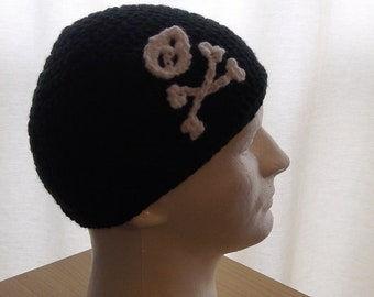 Extra Large Skull and Crossbones Beanie
