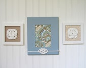 Cottage Chic Decor - Paisley, Nature and Sand - Trio Wall Decor