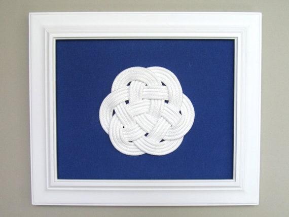Sailors Knot - Blue and White - Nautical - Beach Decor - Coastal