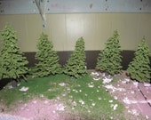 Hand Made Scale Model Trees Dollhouse Scenery Diorama