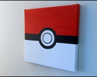 Pokeball Painting - Pokemon - Free Shipping
