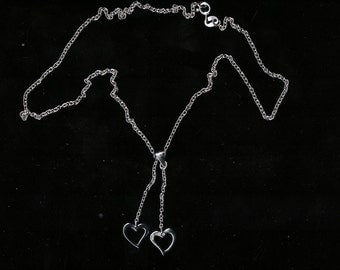 Sterling Silver Lariate  Style Necklace