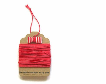 Cherry Red Bakers Twine, Solid  Bakers Twine, 10yds, Solid Bakers Twine , Red Twine