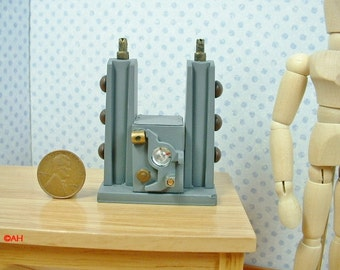 Mad Science Laboratory Equipment Dollhouse Miniature D102 1:12 Scale Model Spooky Weird Sci Fi Halloween Accessory Victorian Scientist Lair