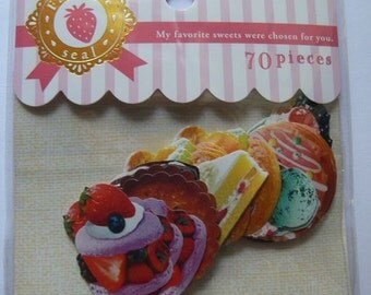Japan Mind Wave Donut,Cake,Ice Cream,Cookie 70 pcs stickers