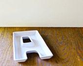 """Vintage Letter """"A"""" Serving Dish"""