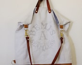 Feed Sack Toot Toot Leather Backpack