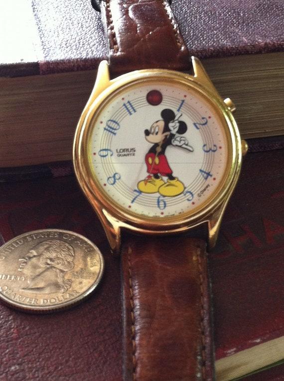 Men's Vintage Mickey Mouse Lorus-Seiko Musical Watch