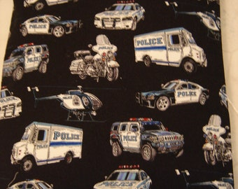 Police Print Back Warmer Corn Cozie