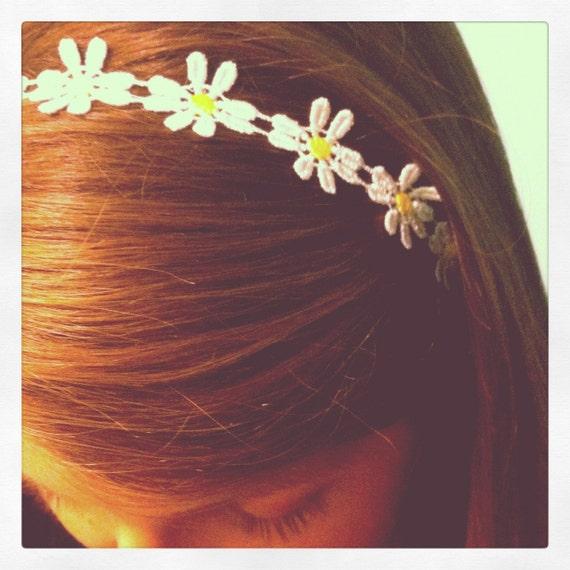 daisy chain elastic headband