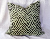 Decorator Fabric Pillow Cover Safari Palm Branch Zebra 22X22 tateam