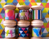 "Washi tape Mini Spool Set ""Technicolor""."