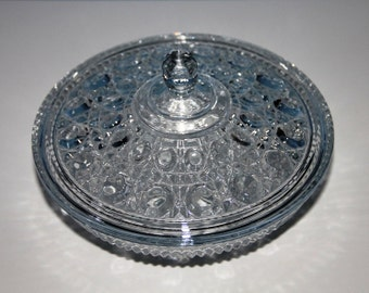 Windsor Clear Covered Candy Dish - Federal Glass Company 1974-1978 - Over 40 Years Old