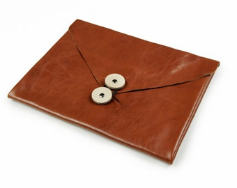 Leather iPad Case Tablet Case iPad Bag iPad Sleeve iPad Cover with Two Genuine Leather Pockets for iPad Air 1 2