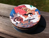 SALE -- Cute Vintage Puppy and Kitten Coaster Set. EXCELLENT Condition. A wonderful addition to any household. Set of 6. Case/Tin Included.