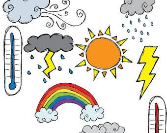 Weather COMBO Clipart Set INSTANT DOWNLOAD