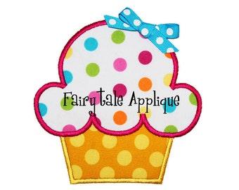 Digital Machine Embroidery Design -  Birthday Cupcake Applique