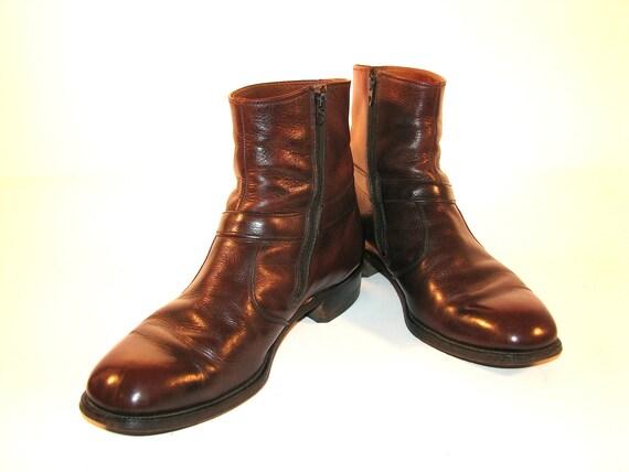Fall Festival Chelsea Boots. Dark Sunset Leather. WRIGHT Beatles Boots. Men's 9.5  9 1/2 D. Women's 11.5  11 1/2.