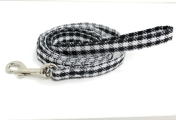 Dog Leash Dog Lead Dog Accessories Black and White Houndstooth Print Dog Leashes