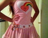 RHINESTONE CARE BEAR Rainbow Teen Girl Costume