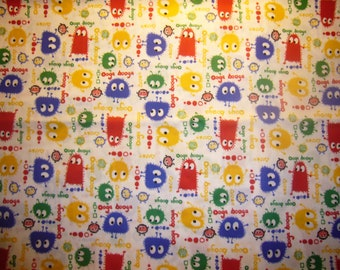 "20"" x 20"" PUL Diaper Cut  - Ooga Booga Primary Colors"