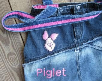 Piglet Tote Bag-Diaper Bag-Piglet Purse-Piglet Diaper Bag-Large Tote Bag-OOAK Tote Bag
