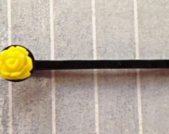 Yellow Bud Hair Pin