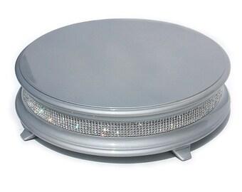 18 Inch Silver Diamond Bling Wedding Cake Stand